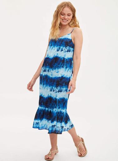 DeFacto Askılı Elbise Mavi